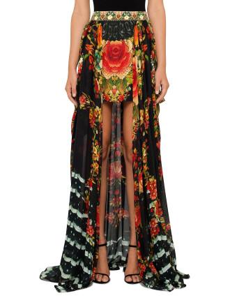 CAMILLA Lift The Veil Short Skirt w/ Full Overlay