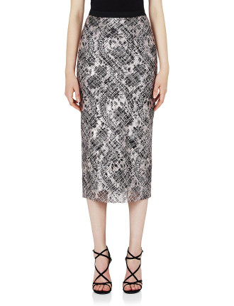 Ring My Bell Lace Midi Skirt