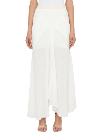 Long Skirt With Front Split