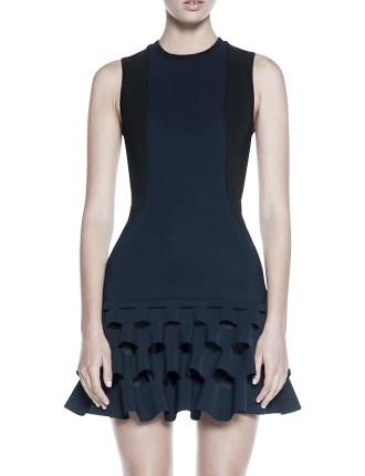 Lory Circle Cut Out Slash Mini Dress