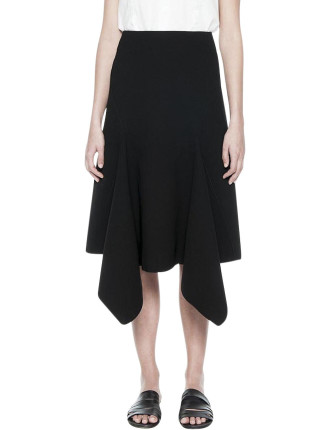 Slash Drape Midi Skirt