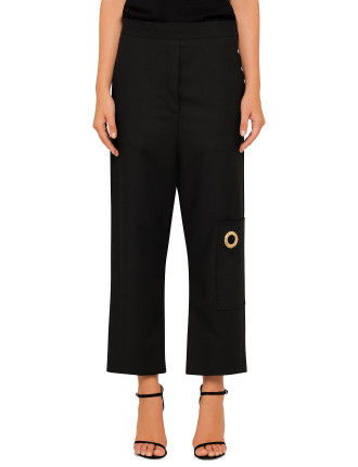 Archipelago  Crop Pant With Pocket And Eyelet
