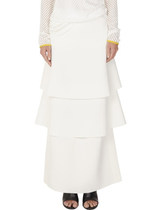 Double Crepe Tiered Totem Skirt
