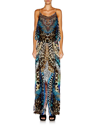 CAMILLA Fan of the Wild Shoestring Strap Jumpsuit