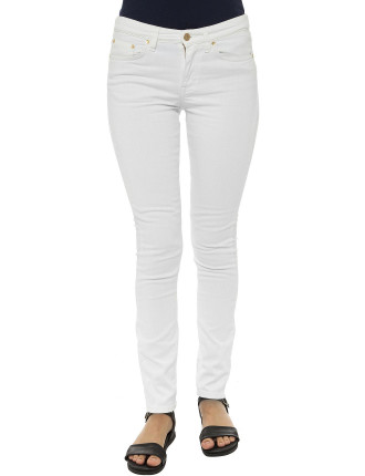 Yc. Slim White Denim Jean
