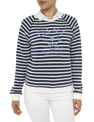 Yc. Striped Anchor Sweat