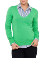 Long Sleeve Cotton V Neck Jumper $139.00