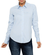 Stretch Big Gingham Check Shirt with Shield $169.00