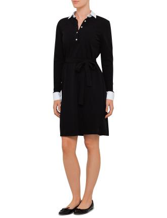 N. Pique Jersey Shirt Dress