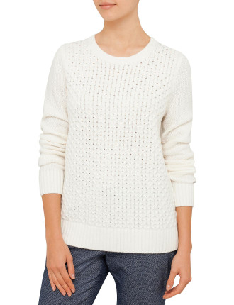 Gelly Texture C-Nk Sweater