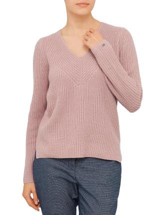 Danika V-Nk Rib Sweater