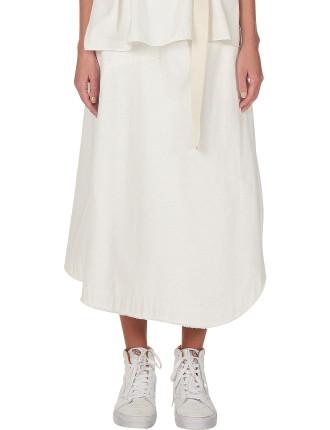Undyed Drapey Skirt