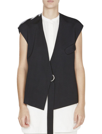 Cupro Sateen Belted Vest