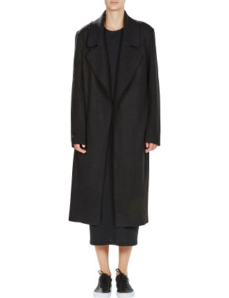 Wide Lapel Wool Felt Coat
