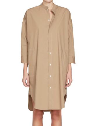 Stretch Cotton Shirt Dress