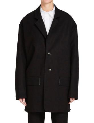 Pique Tailored Cocoon Coat