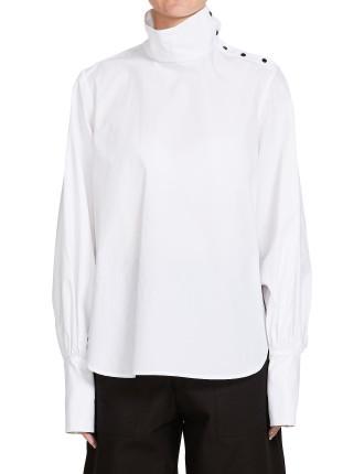 Cotton Funnel Neck Shirt