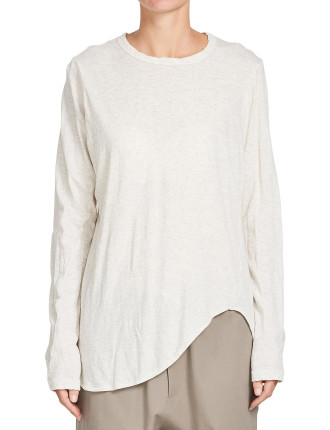 Heritage Scoop Hem Long Sleeve T.Shirt