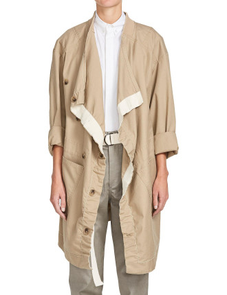 Drill Oversized Pocket Coat