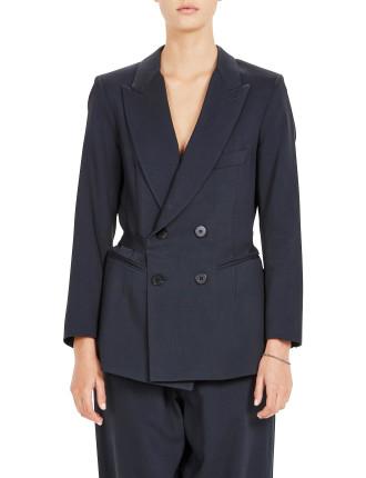 Faille Tailored Wrap Jacket
