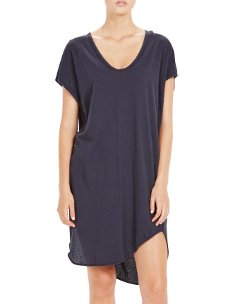 Boxy T-Shirt Dress W/ Tail
