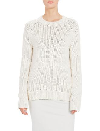 Cotton Linen Stripe Back Knit