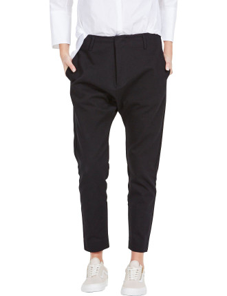 Cotton Twill Panelled Low Slung Pant