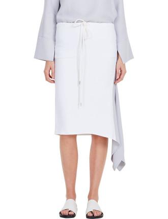 Crepe Asymmetric Hem Skirt
