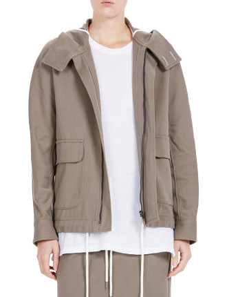 Army Twill Hooded Anorak