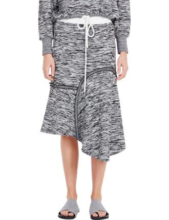 Melange Reverse Seam Skirt