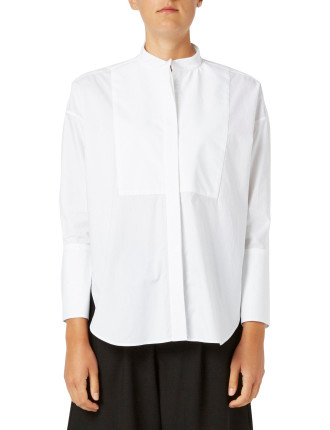 Compact Cotton Bib Front Shirt