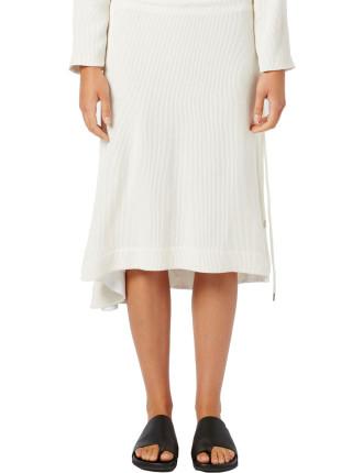 Side Tie Drawstring Skirt