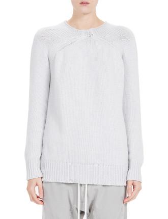 Cotton/Linen Raised Neck Knit