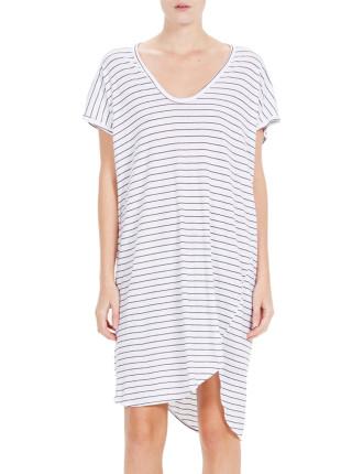 Stripe Boxy T.Shirt Dress