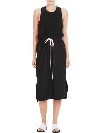 Bi Stretch Drawstring Dress