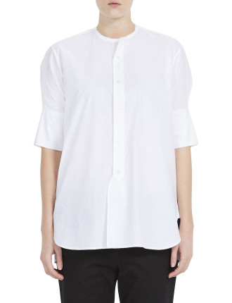 Cotton Cropped Sleeve Shirt