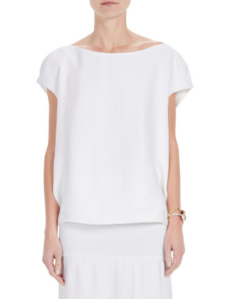 Crepe Tie Back Shell Top