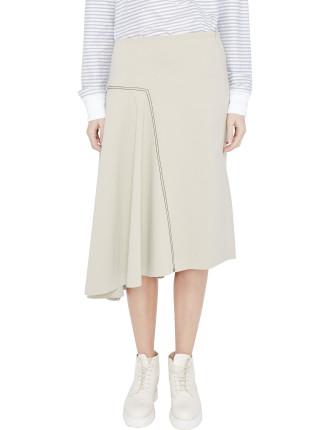 Stretch Asymmetric Skirt