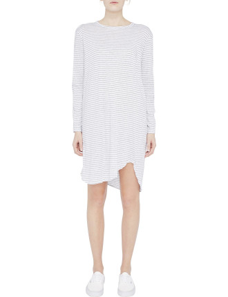 Stripe French Seam L/S Dress