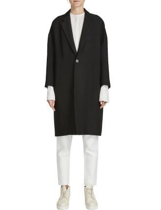 Viscose Twill Oversized Coat
