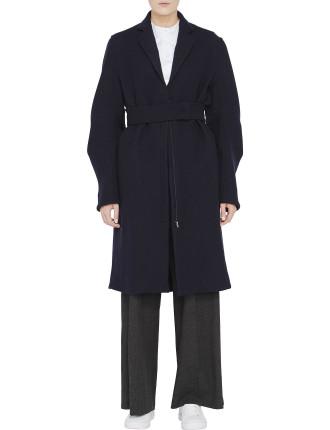 Wool Tuck Sleeve Utility Coat