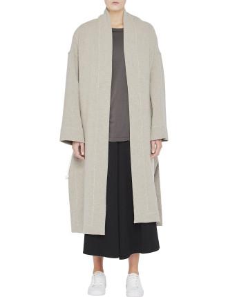 Bonded Drawstring Coat