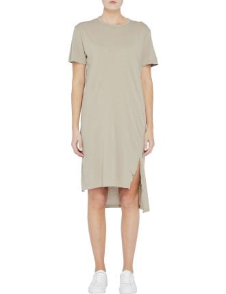 Side Split T.Shirt Dress