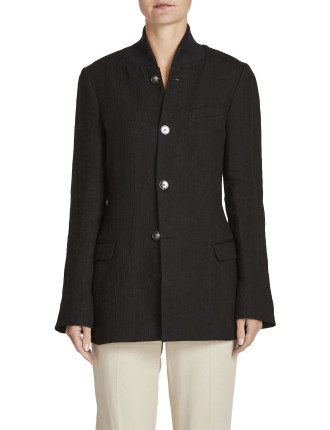 Rib Longerline Tailored Jacket