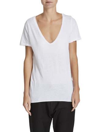 Scoop V Neck With Tail