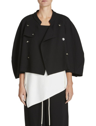 Wool Cropped Trench
