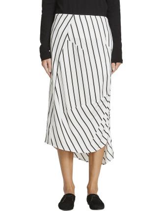 Stripe Dart Detail Skirt