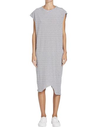 Stripe Htg Boxy Tank Dress