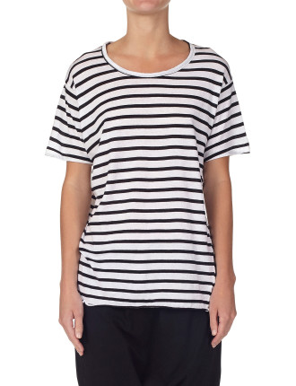 Stripe Heritage Neck T-Shirt