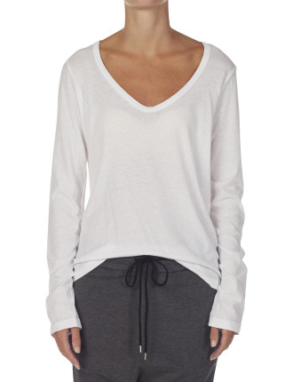 Long Sleeve Scoop Heritage Neck Tee